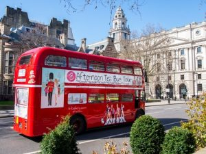 Vintage Afternoon Tea London Bus Tour for Two with Brigit's Bakery